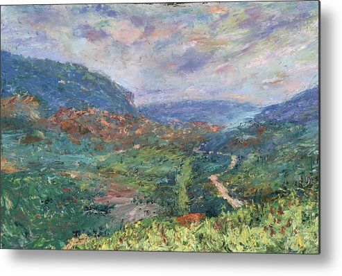 Landscape Metal Print featuring the painting Pleasant Vale by Horacio Prada