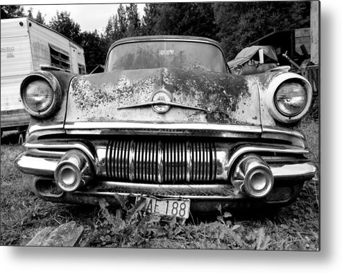 Car Metal Print featuring the photograph Pontiac Smile 2 by Jennifer Owen