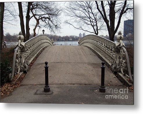 Power Walking Metal Print featuring the photograph Power Walking In Central Park by Joe Scoppa