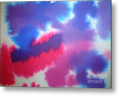 Abstract Metal Print featuring the painting Purple Wisp by Chandelle Hazen