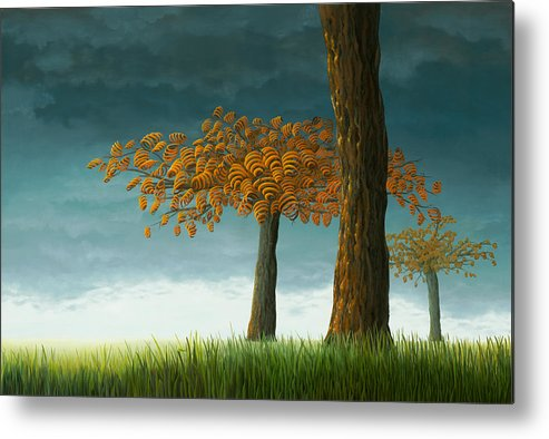 Tree Metal Print featuring the painting Quercus Corymbion by Patricia Van Lubeck