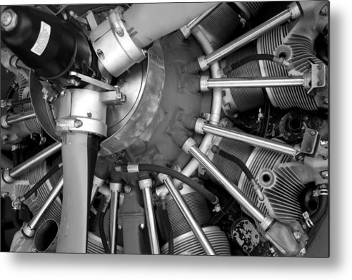 Aircraft Metal Print featuring the photograph Radial Engine by Alasdair Turner
