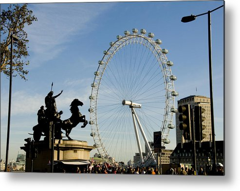 London Eye Metal Print featuring the photograph Ready To Ride by Charles Ridgway