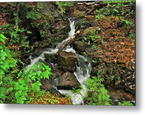 Reany Falls Metal Print featuring the photograph Reany Falls 5 by Michael Peychich