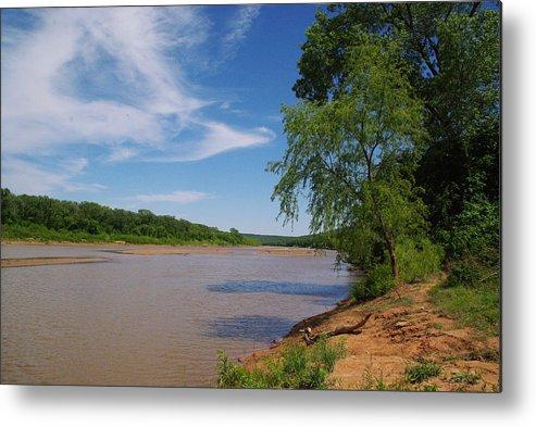 Red River Metal Print featuring the photograph Red River Gainesville Texas East by Robyn Stacey