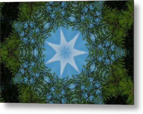Red River Metal Print featuring the photograph Red River Star Kaleidoscope 1 by Robyn Stacey