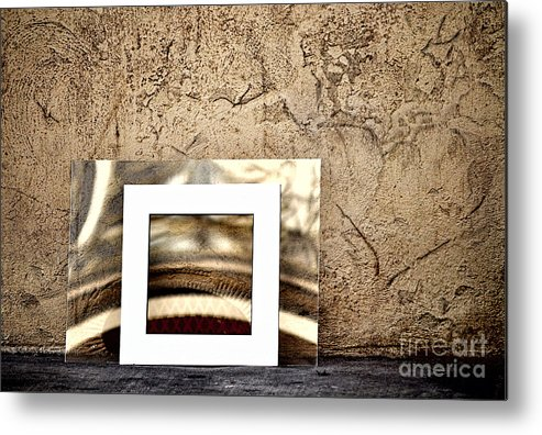 Reflection Metal Print featuring the photograph Reflection Against The Wall by Frances Ann Hattier