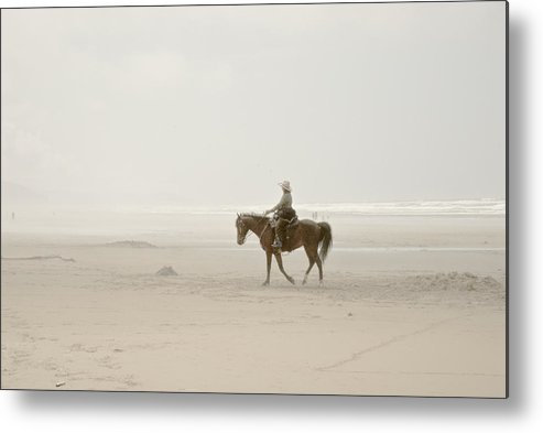 Manzanita Metal Print featuring the photograph Riding On The Beach by Craig Perry-Ollila