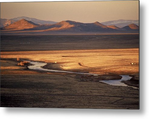 Landscape Metal Print featuring the photograph Rio Grande Evening by Lynard Stroud