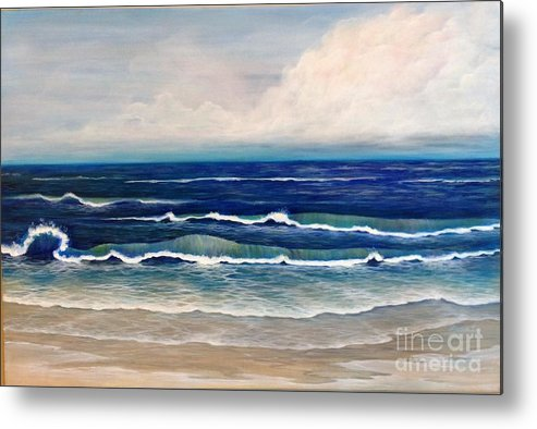 Beach Metal Print featuring the painting Roll Tide by M J Venrick