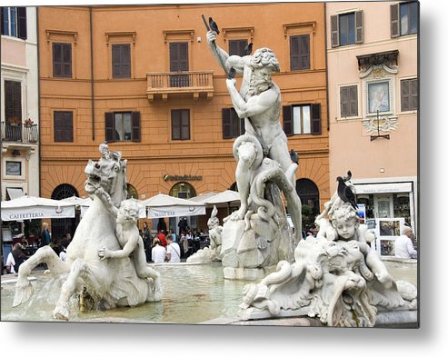 Rome Metal Print featuring the photograph Roman Fountain by Charles Ridgway