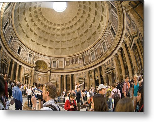 Panteon Metal Print featuring the photograph Roman Pantheon by Charles Ridgway