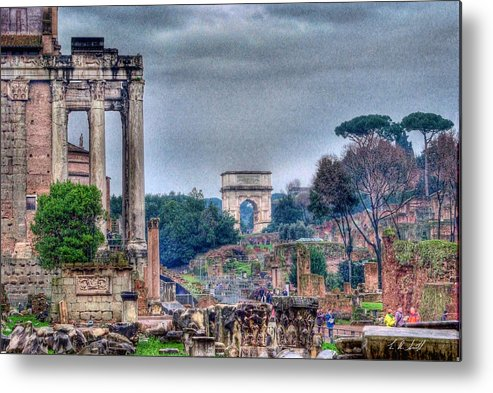 Hdr Metal Print featuring the photograph Rome Horizon by E R Smith