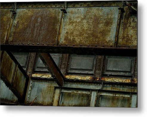 New York City Metal Print featuring the photograph Rusted Steel Support Structure by Todd Gipstein
