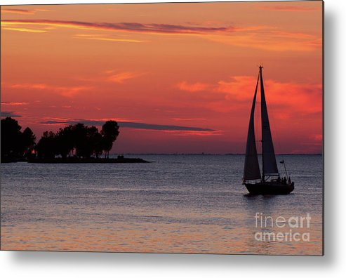Sailing Metal Print featuring the photograph Sailing Home by Joel Witmeyer