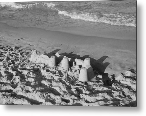 Sea Scape Metal Print featuring the photograph Sand Castles By The Shore by Rob Hans
