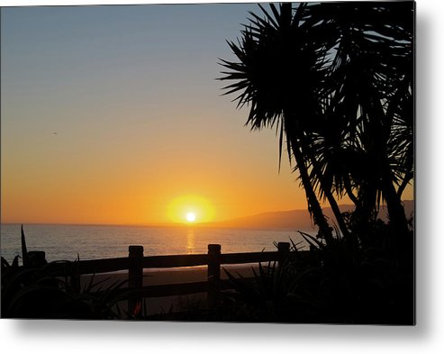 Beach Metal Print featuring the photograph Santa Monica Sunset by Andre Distel