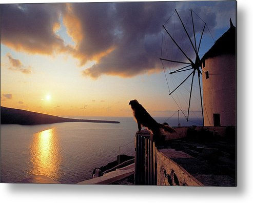 Santorini Metal Print featuring the photograph Santorini 014 by Manolis Tsantakis