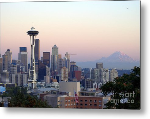 Mountain Metal Print featuring the photograph Seattle by Larry Keahey