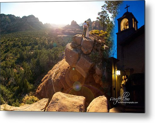 Wedding Metal Print featuring the photograph Sedona Day And Night by David Sunfellow