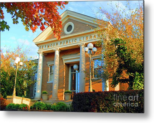 Seymour Metal Print featuring the photograph Seymour Public Library by Jost Houk