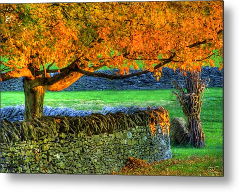 Shaker Metal Print featuring the photograph Shaker Stone Fence 1 by Sam Davis Johnson