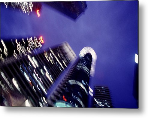 Skyline Metal Print featuring the photograph Singapore Office Towers by Brad Rickerby