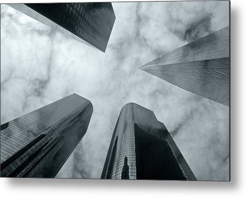 Skyscrapers Metal Print featuring the photograph Skyscrapers by Steve Williams