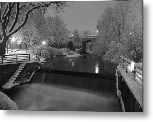 Petoskey Michigan Metal Print featuring the photograph Snowy Bear River by Russell Todd