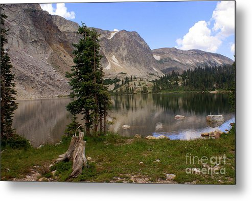 Snowy Mountains Metal Print featuring the photograph Snowy Mountain Loop 1 by Marty Koch