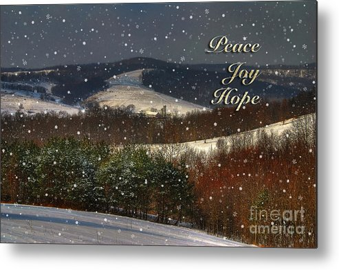 Christmas Metal Print featuring the photograph Soft Sifting Christmas Card by Lois Bryan