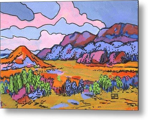Landscape Metal Print featuring the painting South West Landscape by Helen Pisarek