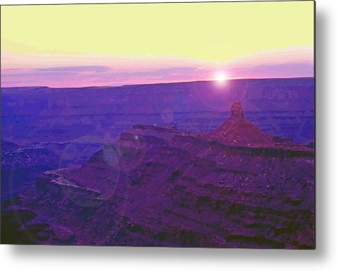 Desert Metal Print featuring the photograph Southeastern Utah Sunset 2 by Steve Ohlsen