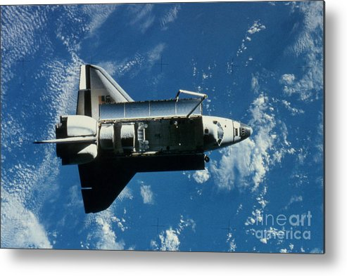 Challenger Metal Print featuring the photograph Space Shuttle Challenger by Granger