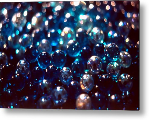 Abstract Metal Print featuring the photograph Spotlighted Marble Abstract 2 by Steve Ohlsen