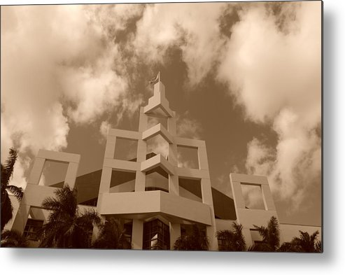 Architecture Metal Print featuring the photograph Squares In The Sky by Rob Hans