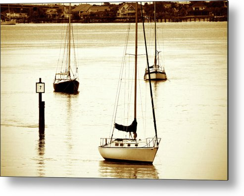 Photo Metal Print featuring the photograph St. Augistine Harbor 2 by Alan Hausenflock