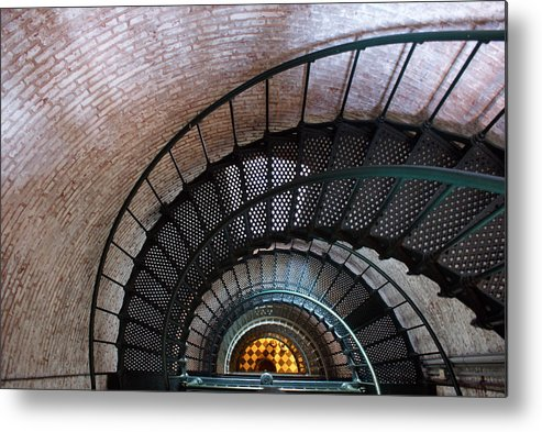Lighthouse Metal Print featuring the photograph Staircase by Patrick Flynn