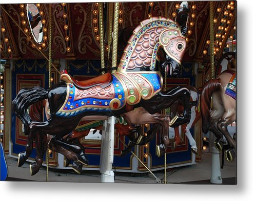 Pop Art Metal Print featuring the photograph Stallion by Rob Hans