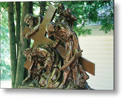 Spiritual Metal Print featuring the photograph Station Of The Cross II by Cheryl Vatcher-Martin