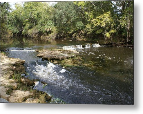Steinhatchee Metal Print featuring the painting Steinhatchee Falls by Debbie May