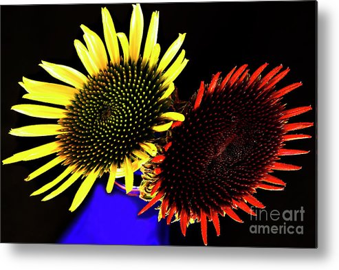 Summer Flowers Metal Print featuring the photograph Still Life With Summer Flowers #1. by Alexander Vinogradov