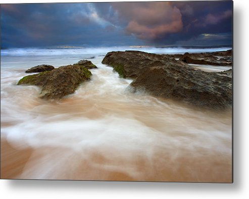 Seascape Metal Print featuring the photograph Storm Shadow by Mike Dawson