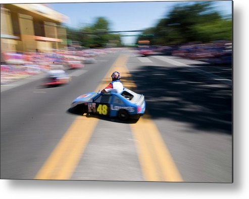Car Metal Print featuring the photograph Street Racing by JD Wright