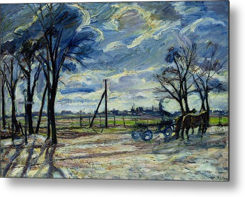 Suburban Metal Print featuring the photograph Suburban Landscape In Spring by Waldemar Rosler