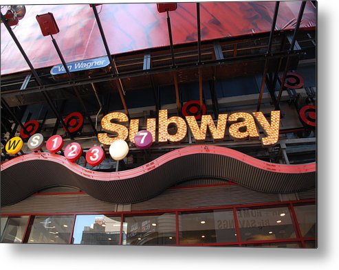 Neon Metal Print featuring the photograph Subway by Rob Hans