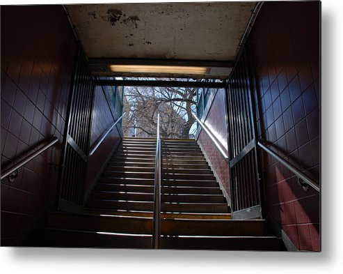 Pop Art Metal Print featuring the photograph Subway Stairs To Freedom by Rob Hans