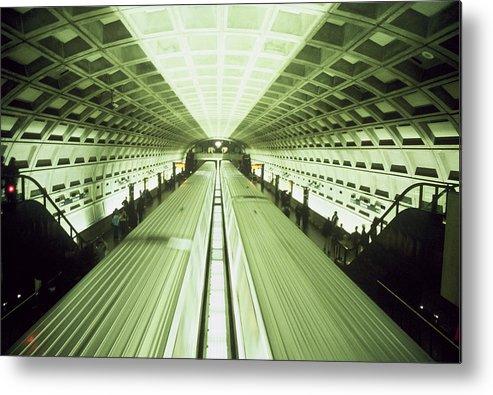 Train Metal Print featuring the photograph Subway by Wes Shinn