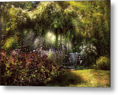 Savad Metal Print featuring the photograph Summer - Landscape - Eve's Garden by Mike Savad