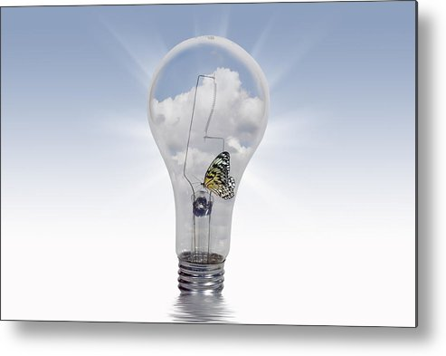 Bulb Metal Print featuring the digital art Summer Light by Maria Dryfhout